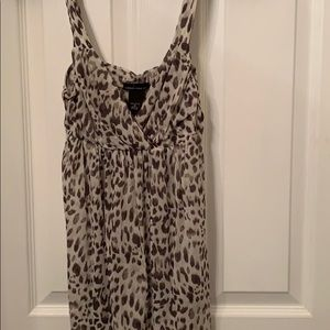 Mesh cheetah tank top